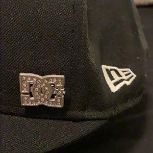 DC New Era Black Short Lid Cap 7 1/4